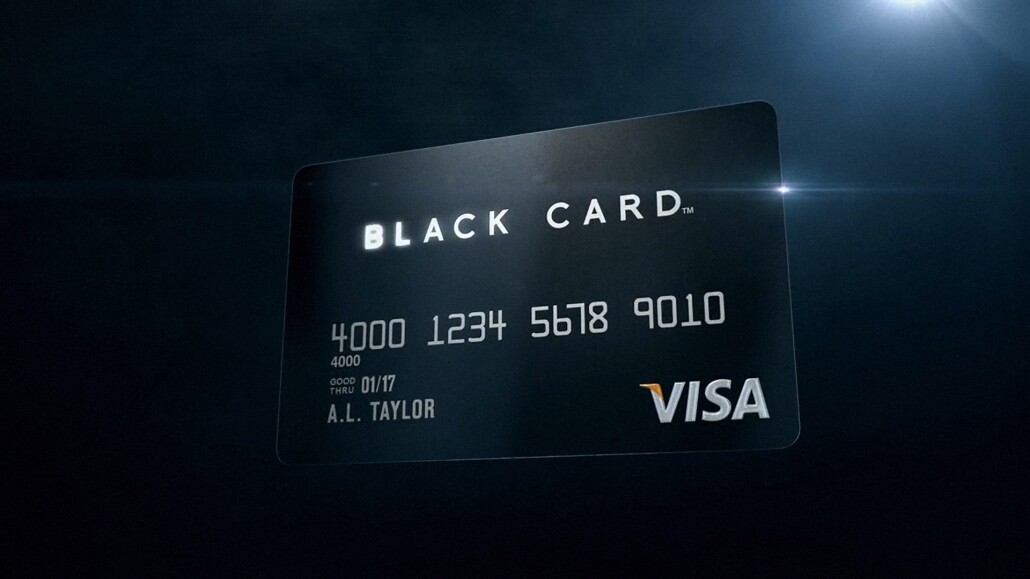 3d animation visa black card