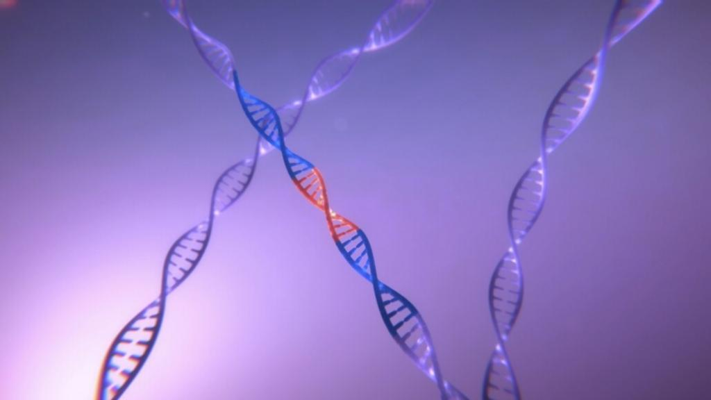 Animated DNA sequence