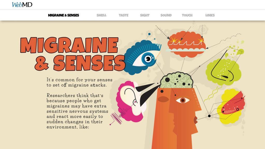 webmd migraines and senses