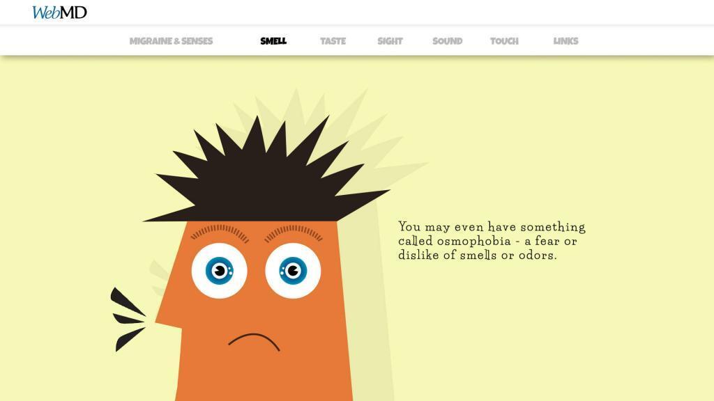 character design for migraine description