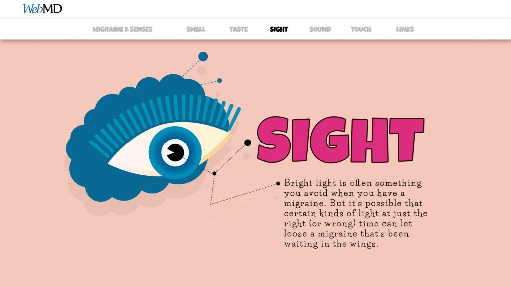 infographics about sight and migraine