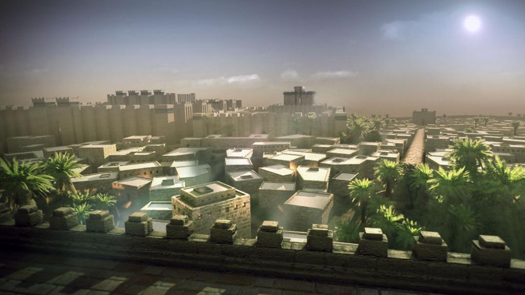 3D animation of a mesopotamian city