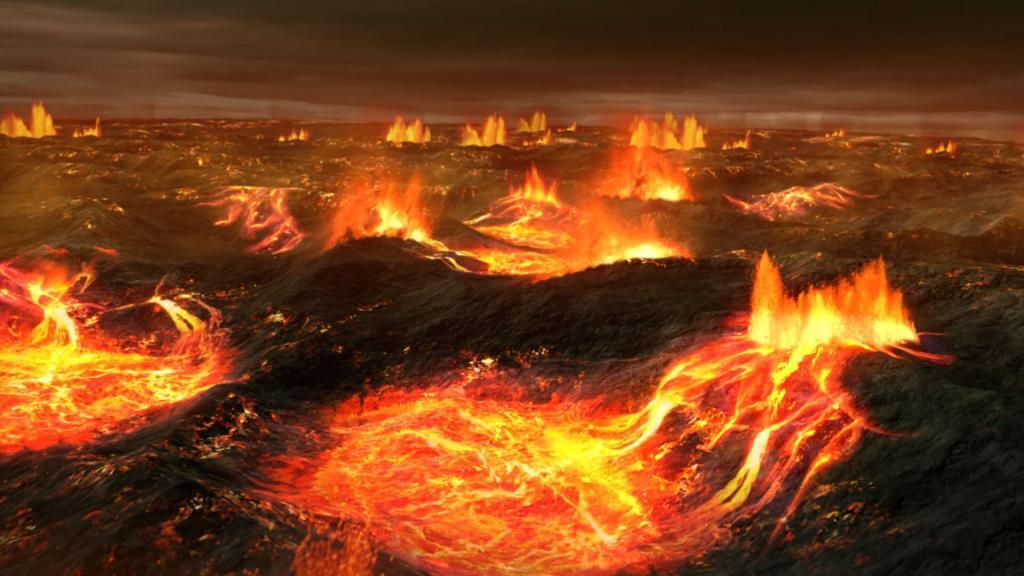 CGI VFX of Volcano