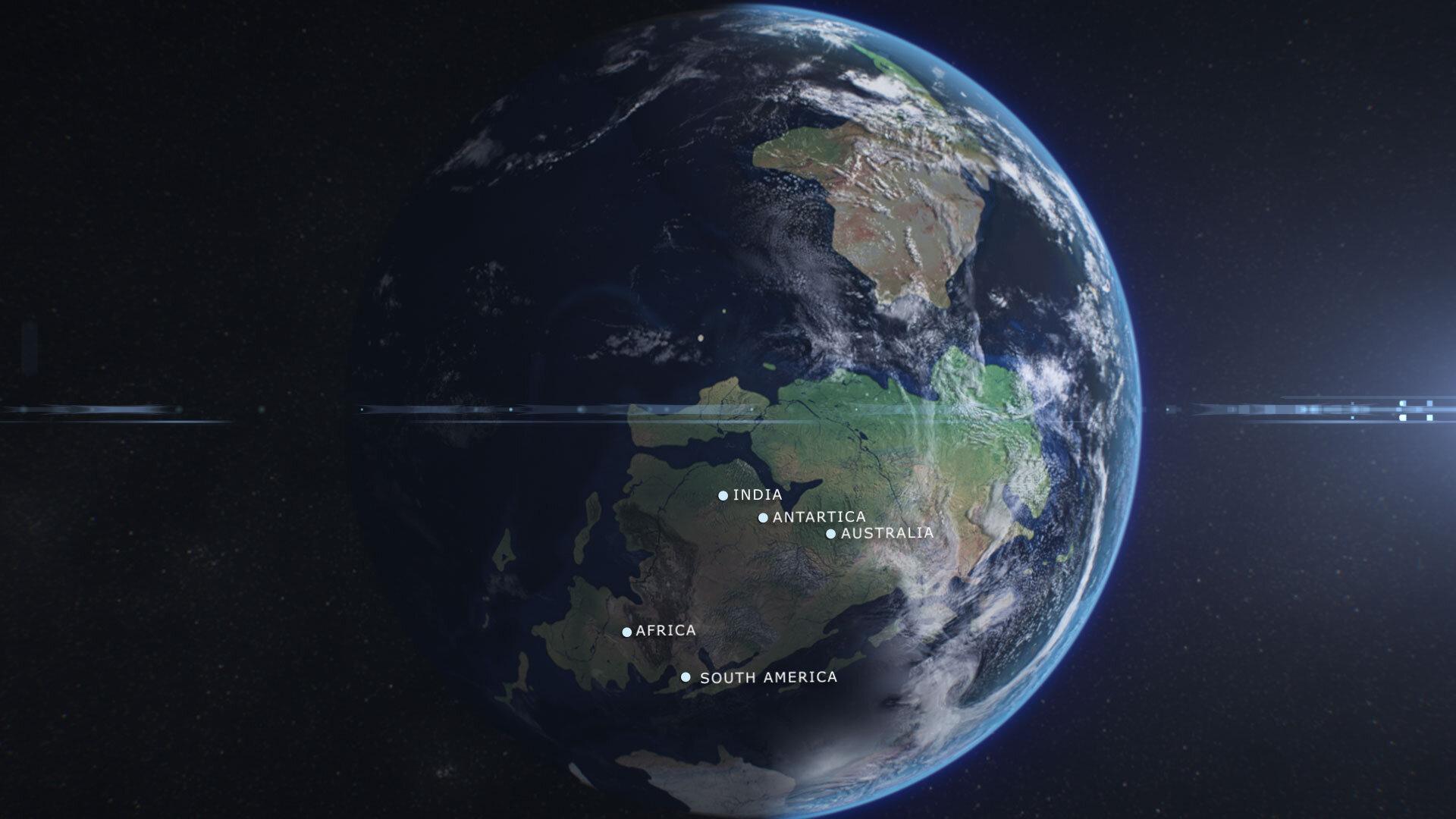 Visual representation of Gondwana through 3D animation and CGI