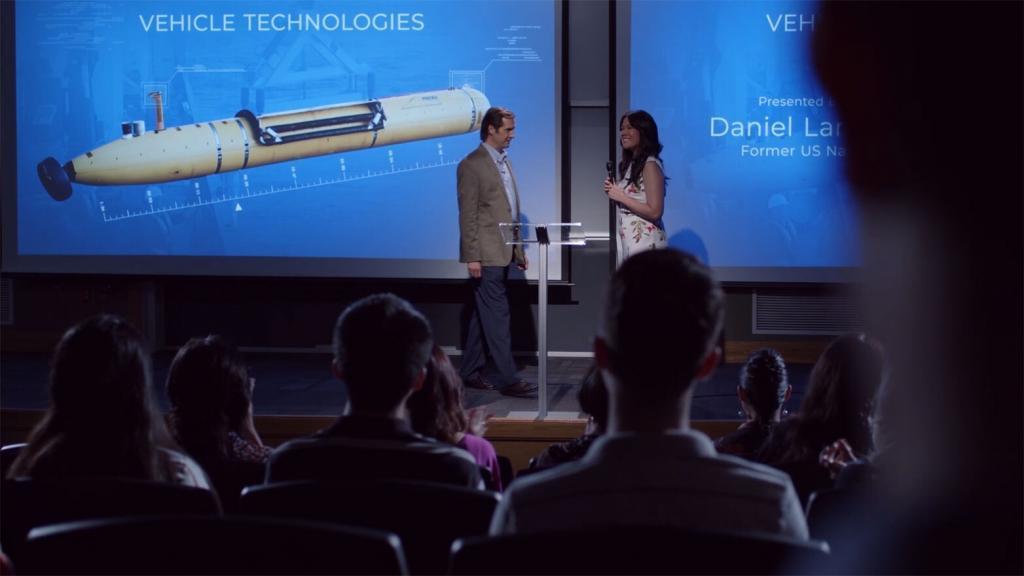 Lecture scene of the film
