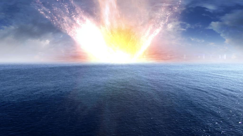 CGI VFX of an explosion
