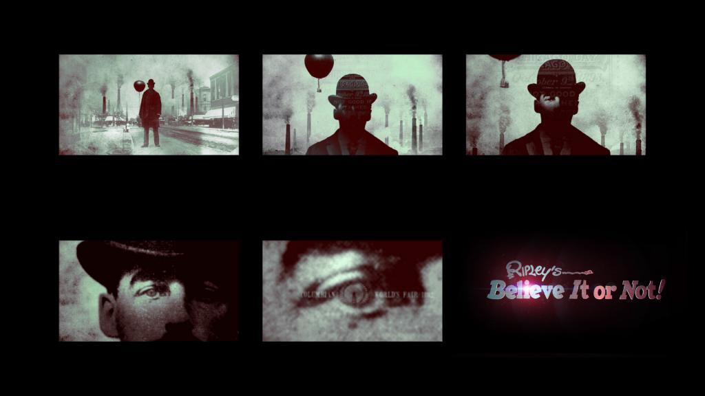 Archival footage concept for the Ripley's open title sequence
