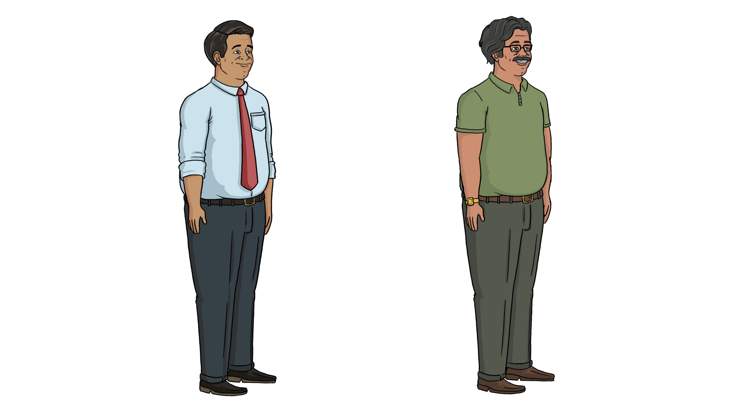 before and after of characters for the newpoint training videos