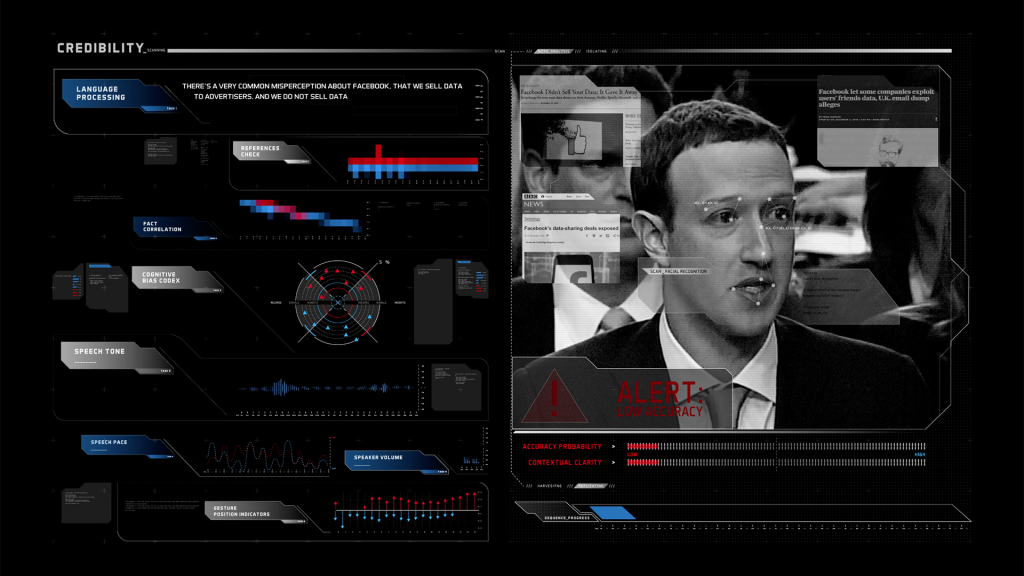 Mark Zuckerburg clip examined by the Credibility tool