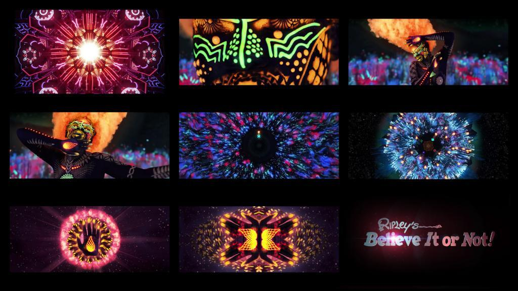 kaleidoscope concept for the Ripley's open title sequence
